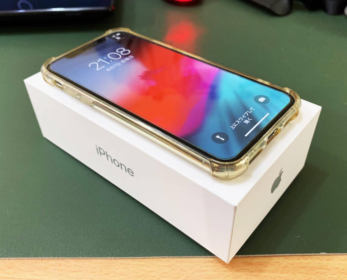 【ヤフネコ匿名配送】Apple Store購入の国内SIMフリー版 iPhone X シルバー 256GB 美品 付属品未使用 元箱付き 使用期間9ヶ月 送料無料_画像6