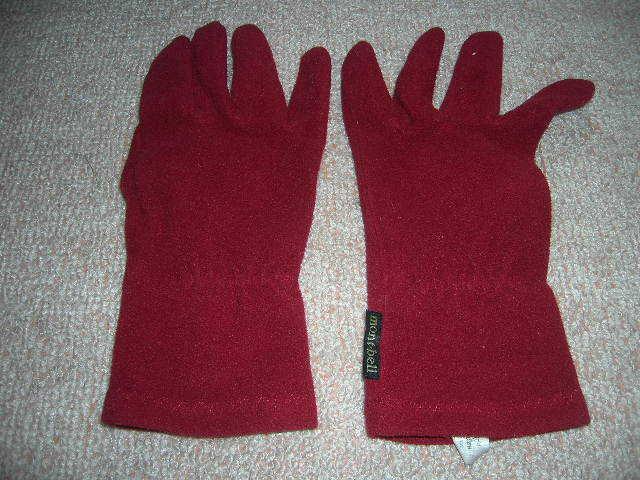 モンベル 手袋 赤 Sサイズ used_画像2