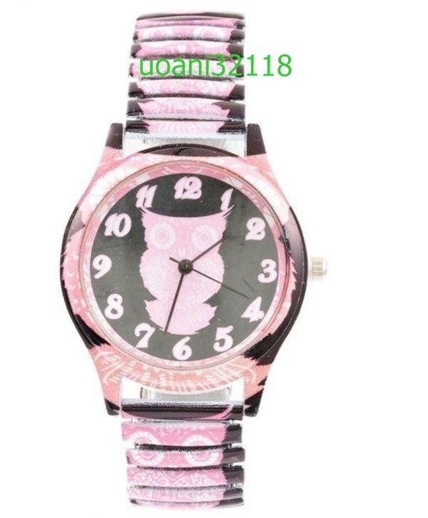 【破格の1円スタート!】フクロウクォーツ黒腕時計女性 スポーツ腕時計 ドレスブレスレットウォッチ腕時計 2015_画像3