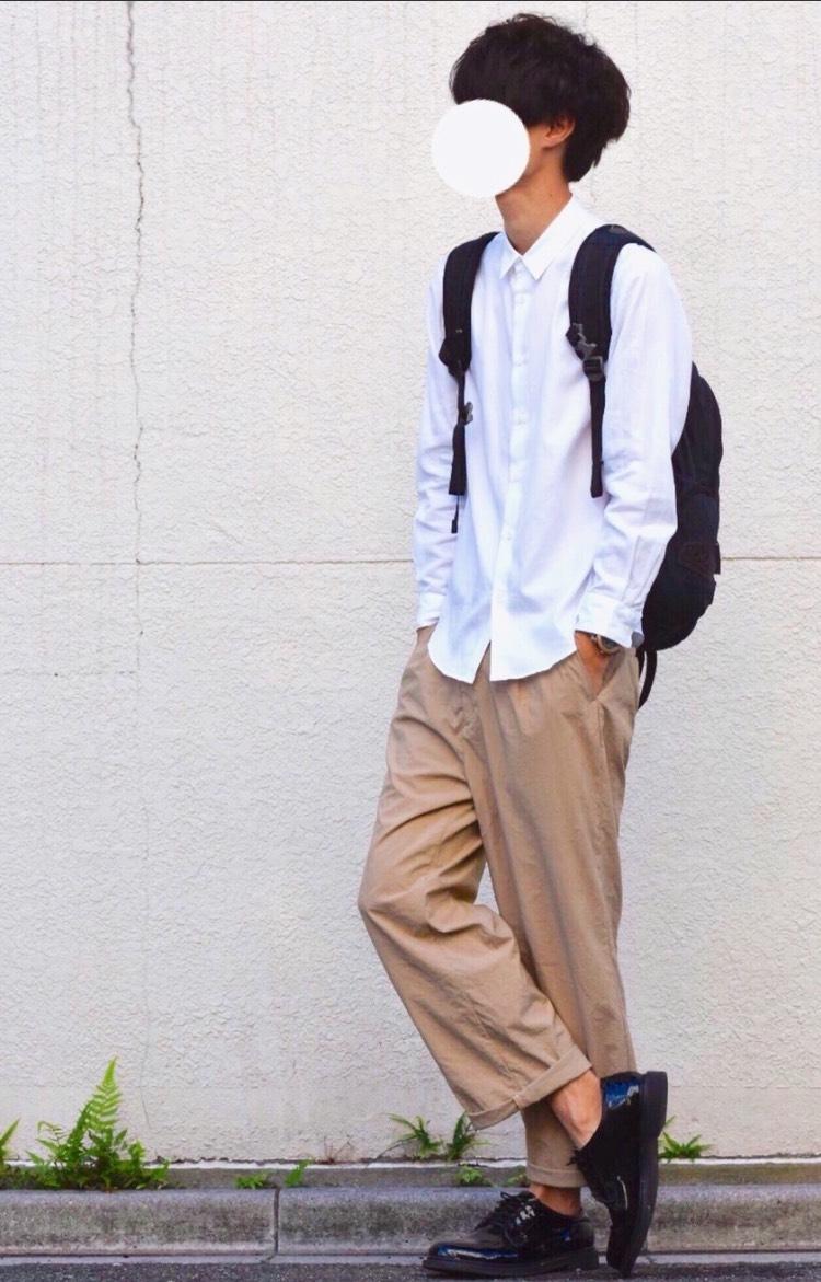 【新品未使用】ナノユニバース コットン白シャツ 定価14580円 studious ユナイテッドアローズ