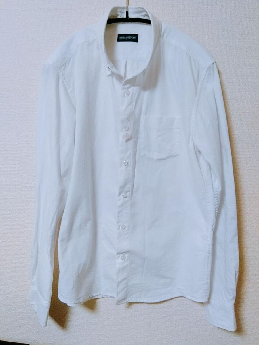 【新品未使用】ナノユニバース コットン白シャツ 定価14580円 studious ユナイテッドアローズ_画像2