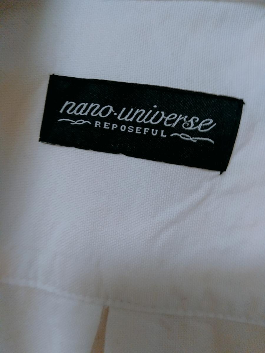 【新品未使用】ナノユニバース コットン白シャツ 定価14580円 studious ユナイテッドアローズ_画像4