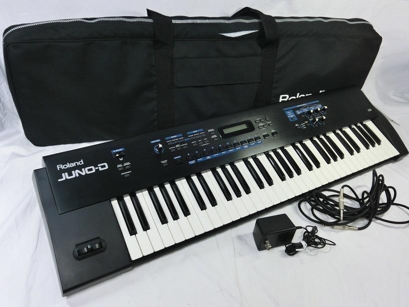 □ Roland JUNO-D ローランド 61鍵盤 シンセサイザー キーボード アダプター/専用ケース付き♪_画像2