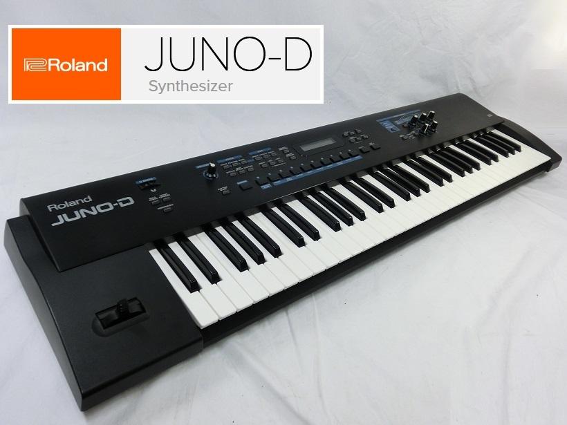 □ Roland JUNO-D ローランド 61鍵盤 シンセサイザー キーボード アダプター/専用ケース付き♪