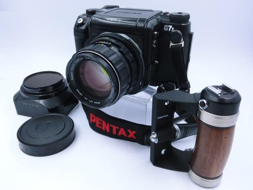 □ペンタックス/ PENTAX 67 II 中判カメラ Super-Multi-Coated Takumar6X7レンズ付 現状品♪