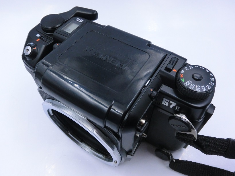 □ペンタックス/ PENTAX 67 II 中判カメラ Super-Multi-Coated Takumar6X7レンズ付 現状品♪_画像5