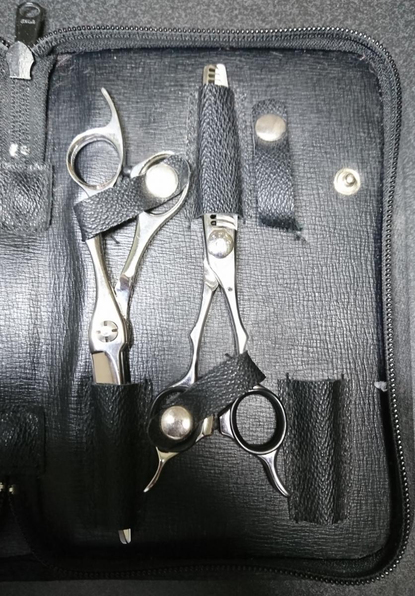 scissors Japan NARUTO シザー 美容 ハサミ セニング コーム くし シザーケース付き 右利き シザーズジャパン ナルト 高額_画像5