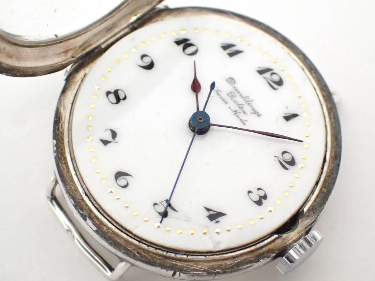 *希少・レア!!*Dunklings×ROLEX/ロレックス/W&D/Wネーム/スイス製/手巻き/925/銀製/腕時計/アンティーク/ジャンク[T]_画像4