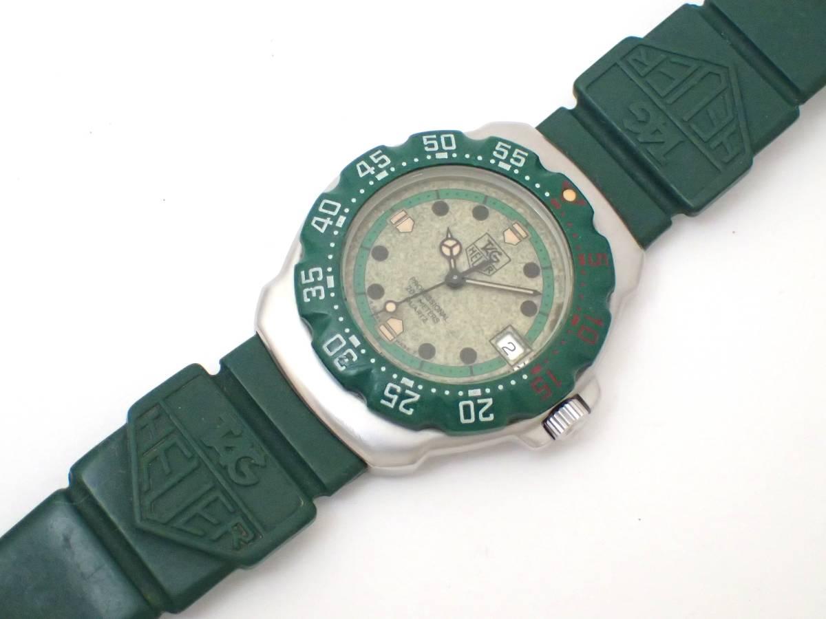 TAG HEUERタグホイヤー/WA1212/フォーミュラ/プロフェッショナル200m/ボーイズ/腕時計/純正ベルト/グリーン/ジャンク[T]