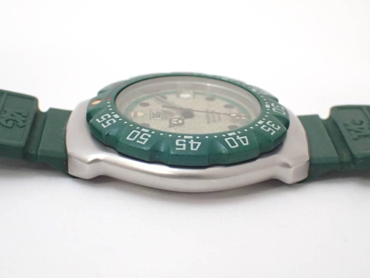 TAG HEUERタグホイヤー/WA1212/フォーミュラ/プロフェッショナル200m/ボーイズ/腕時計/純正ベルト/グリーン/ジャンク[T]_画像5