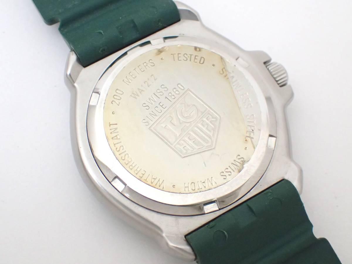 TAG HEUERタグホイヤー/WA1212/フォーミュラ/プロフェッショナル200m/ボーイズ/腕時計/純正ベルト/グリーン/ジャンク[T]_画像6