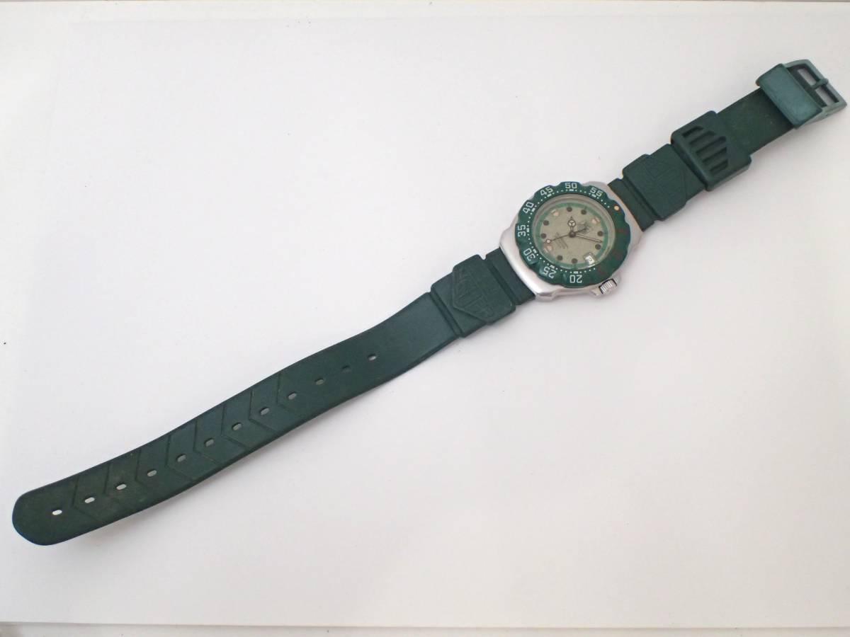 TAG HEUERタグホイヤー/WA1212/フォーミュラ/プロフェッショナル200m/ボーイズ/腕時計/純正ベルト/グリーン/ジャンク[T]_画像7