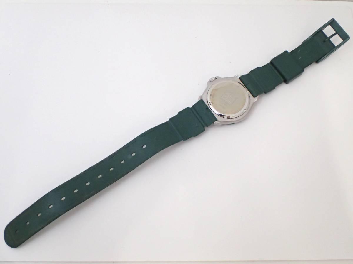 TAG HEUERタグホイヤー/WA1212/フォーミュラ/プロフェッショナル200m/ボーイズ/腕時計/純正ベルト/グリーン/ジャンク[T]_画像8