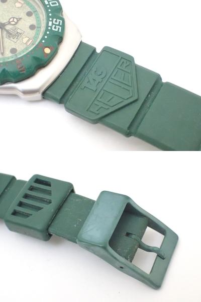 TAG HEUERタグホイヤー/WA1212/フォーミュラ/プロフェッショナル200m/ボーイズ/腕時計/純正ベルト/グリーン/ジャンク[T]_画像9