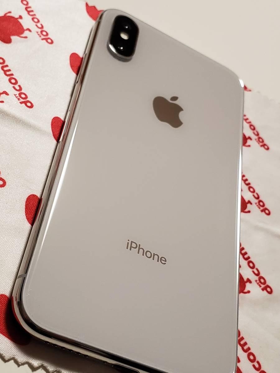 iPhone X 64GB シルバー ドコモ版 (SIMロック解除済・ガラスコーティング済・ケースおまけ) ・ 美品【値下げ】_画像5