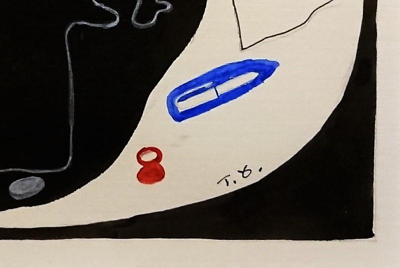 大沼映夫「覚醒」0号 紙本 水彩 国画会会員 東京芸術大学名誉教授 巨匠 貴重作 _画像5