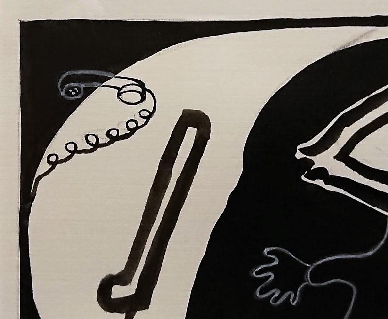 大沼映夫「覚醒」0号 紙本 水彩 国画会会員 東京芸術大学名誉教授 巨匠 貴重作 _画像4
