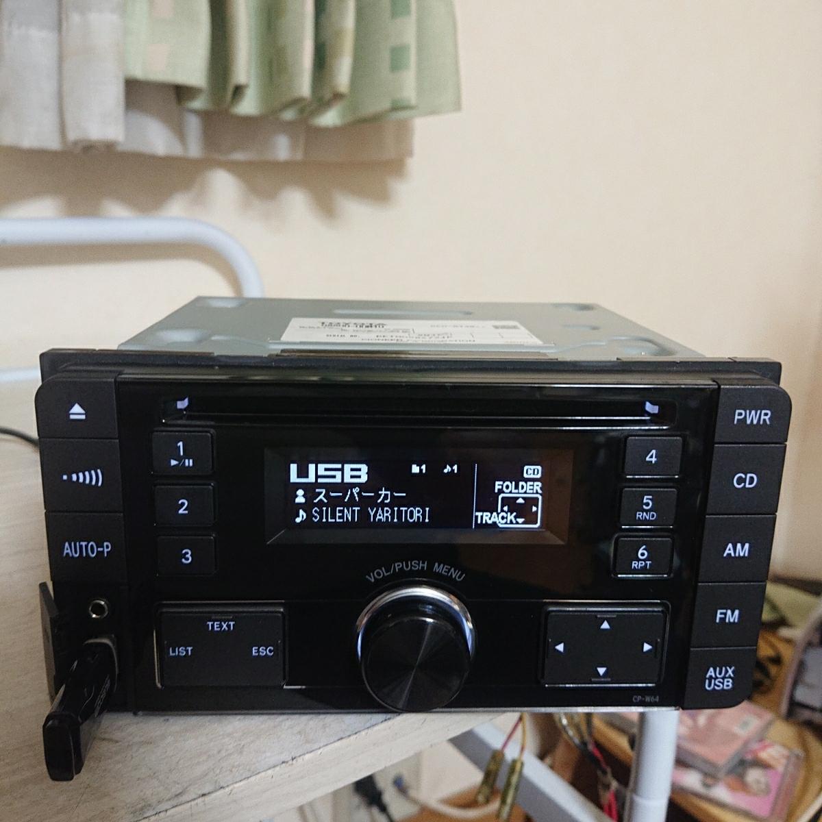 売り切り♪♪♪トヨタ純正 Pioneer CDプレーヤー CP-W64 DEH-8138zt 08600-00M10 USB.AUX♪♪_画像2