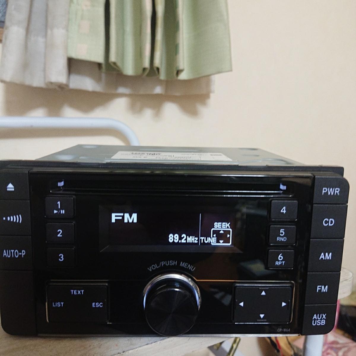 売り切り♪♪♪トヨタ純正 Pioneer CDプレーヤー CP-W64 DEH-8138zt 08600-00M10 USB.AUX♪♪_画像4