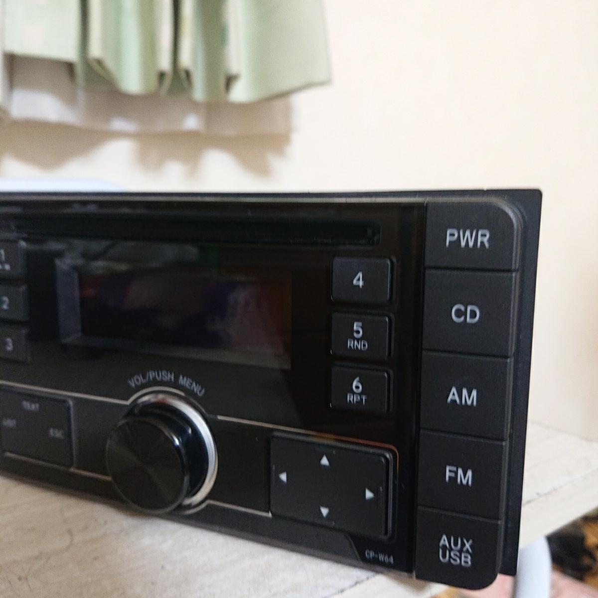 売り切り♪♪♪トヨタ純正 Pioneer CDプレーヤー CP-W64 DEH-8138zt 08600-00M10 USB.AUX♪♪_画像6