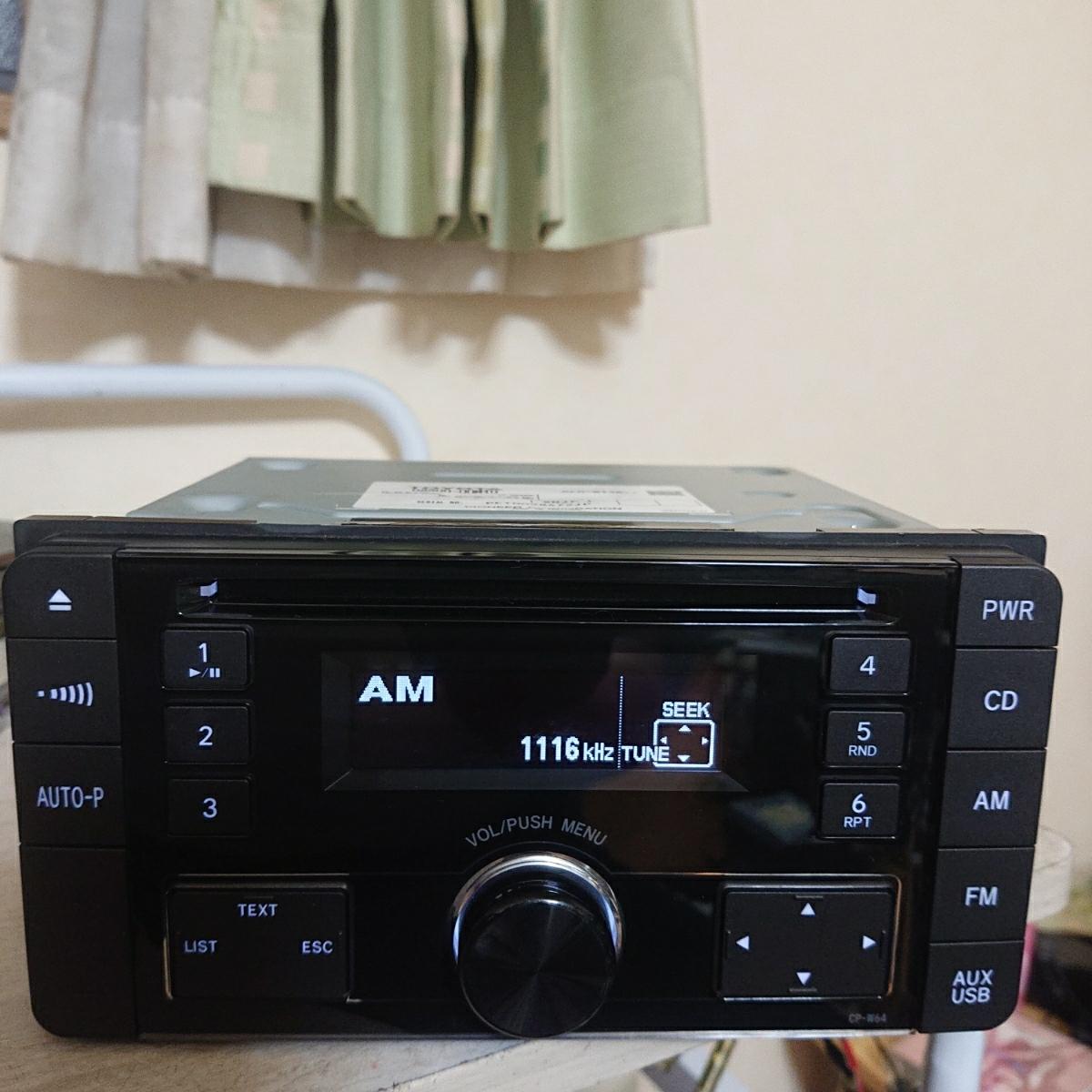 売り切り♪♪♪トヨタ純正 Pioneer CDプレーヤー CP-W64 DEH-8138zt 08600-00M10 USB.AUX♪♪_画像3