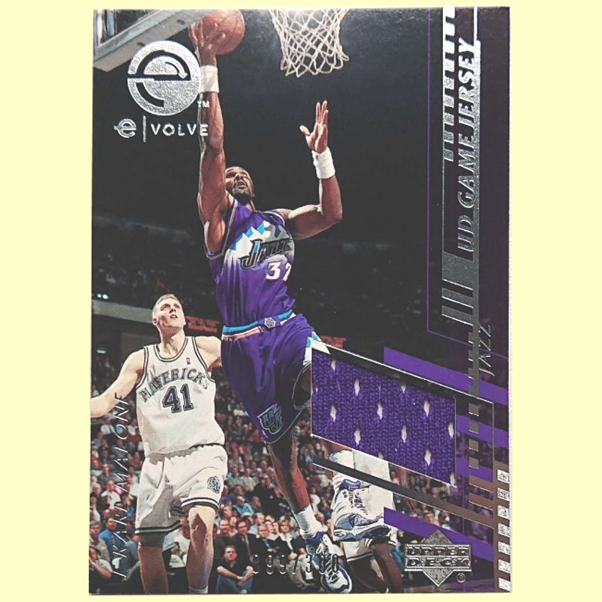 big sale 4e6f8 030a5 【99/300 Jersey】 Karl Malone UD Evolve Game Jersey Jazz Authentic 検索  カール・マローン Game-Used Jersey ジャージ ジャズ