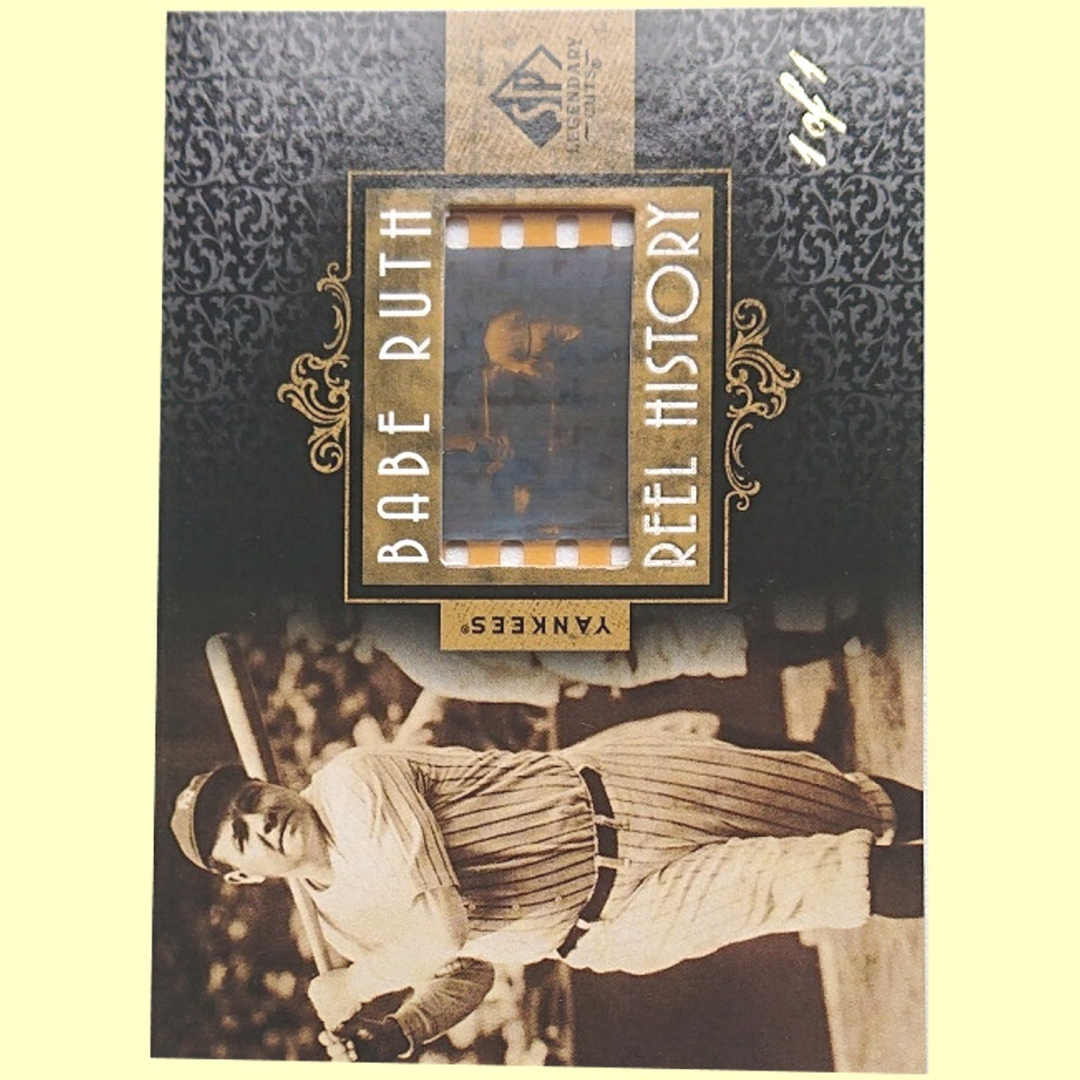 【1 of 1 Film】 Babe Ruth 2007 UD Sp Legendary Cuts Babe Ruth Reel History 1枚限定 ■検索:ベーブ・ルース フィルム カード 1/1