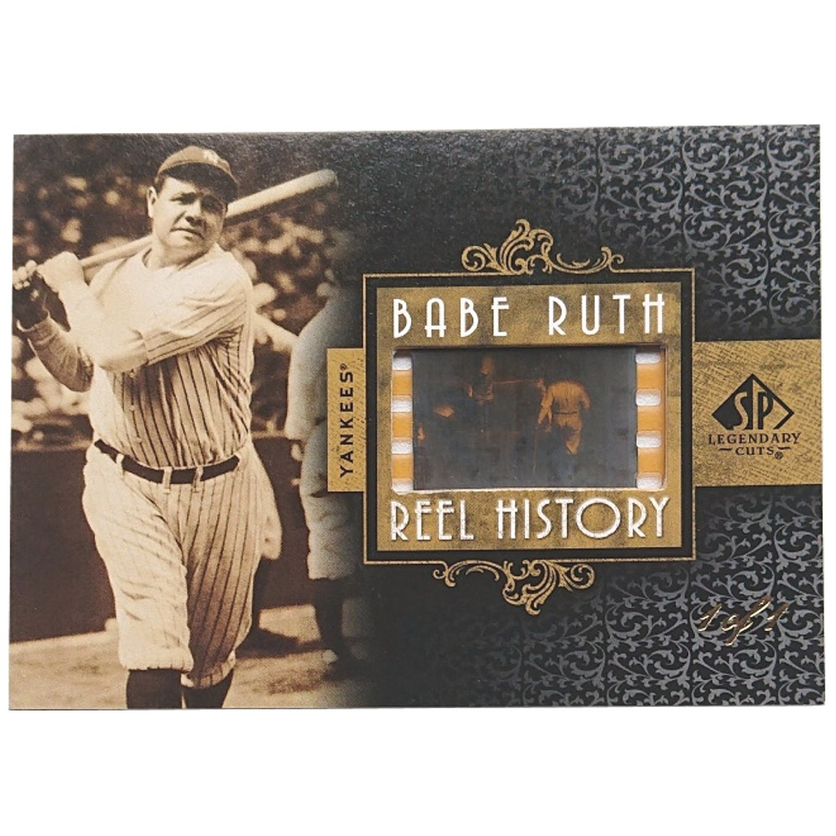 【1 of 1 Film】 Babe Ruth 2007 UD Sp Legendary Cuts Babe Ruth Reel History 1枚限定 ■検索:ベーブ・ルース フィルム カード 1/1_画像2