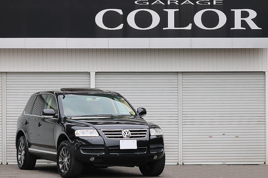【 上級グレード / 実走行7万k 】 2005y VW トゥアレグ V8 CDCエアサス ベージュインテリア カスタムオーディオ_即決 お問い合わせは090-5100-6113迄