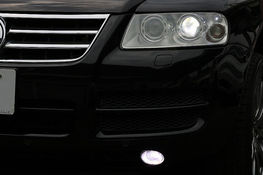 【 上級グレード / 実走行7万k 】 2005y VW トゥアレグ V8 CDCエアサス ベージュインテリア カスタムオーディオ_HIDヘッド フォグランプ