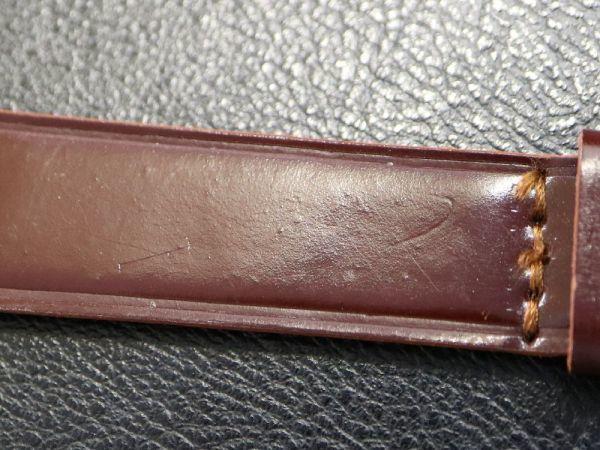 【18.0㎜ ワインレッド】 デッドストック 1950'S 「CHIC」 シェルコードバン 馬革 レザー アンティーク ビンテージ 腕時計 ベルト バンド_画像8
