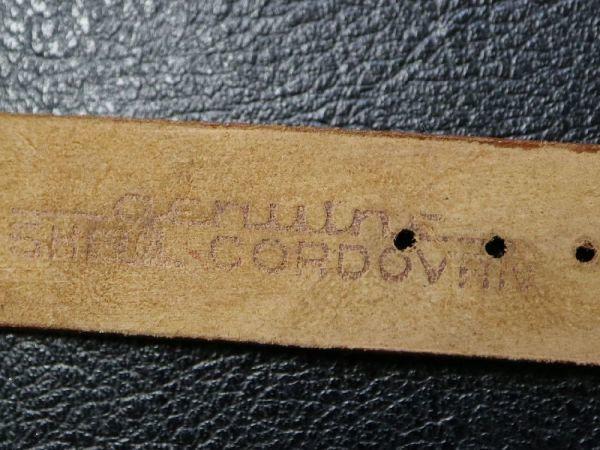 【16.5㎜ 茶】 デッドストック 1950'S 「CHIC」 シェルコードバン 馬革 レザー アンティーク ビンテージ 腕時計 ベルト バンド_画像8