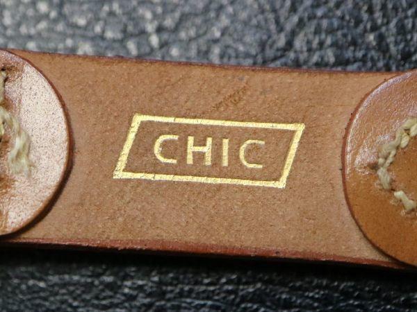 【16.5㎜ 茶】 デッドストック 1950'S 「CHIC」 シェルコードバン 馬革 レザー アンティーク ビンテージ 腕時計 ベルト バンド_画像7