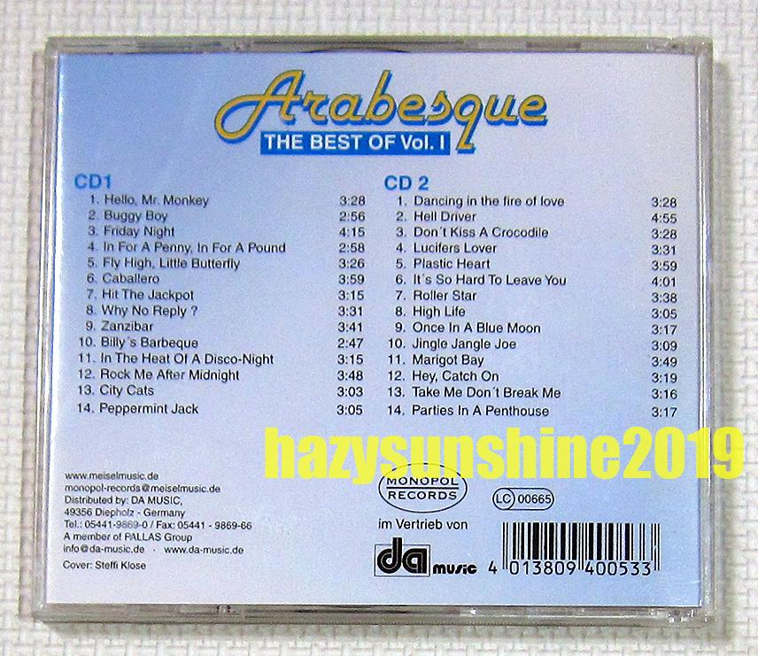 アラベスク THE BEST OF ARABESQUE VOL.1 2枚組 CD ディスコ DISCO ハロー・ミスター・モンキー_画像2