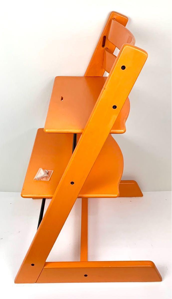 ストッケ トリップトラップ S/N4から オレンジ ベビーチェア ハイチェア_画像2