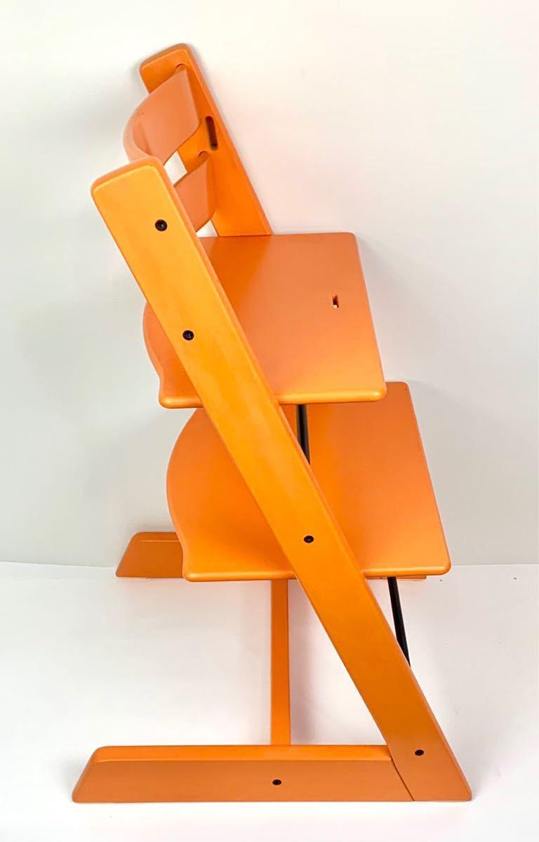 ストッケ トリップトラップ S/N4から オレンジ ベビーチェア ハイチェア_画像4
