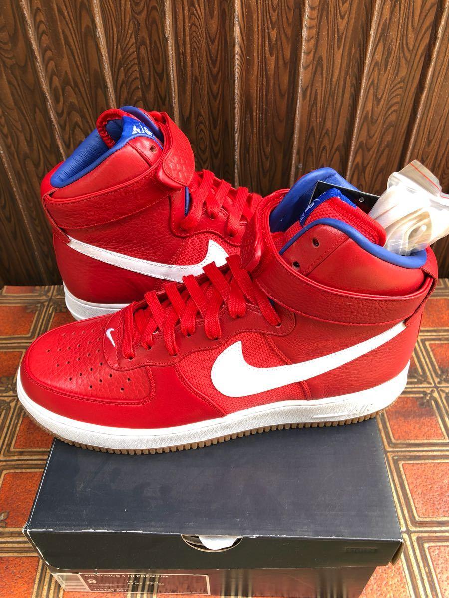 Nike Air Force1 Hi(フォース)Bobbito Garcia 赤 us9(27cm)新品_画像2