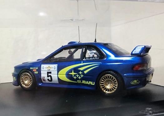 約20年前の1/43ミニカー3台Set!限定4000台シトロエンクサラ・インプレッサWRC(リチャードバーンズ/アクロ優勝)・アルピーヌルノーA110_画像7