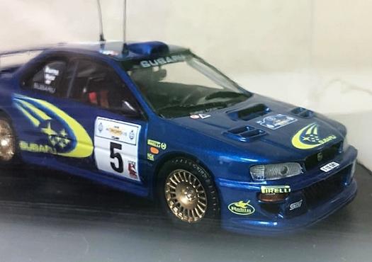 約20年前の1/43ミニカー3台Set!限定4000台シトロエンクサラ・インプレッサWRC(リチャードバーンズ/アクロ優勝)・アルピーヌルノーA110_画像5