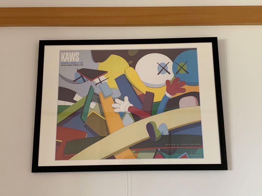 【超希少!】KAWS Gering&Lopez Gallery 2008 オフィシャルポスター 検〕村上隆 草間彌生 Dior 奈良美智 banksy NIGO APE UNIQLO TEN