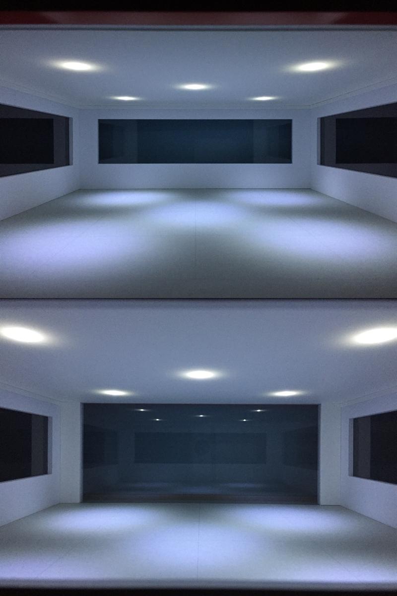 ジオラマ:1/18 モダンタイプガレージⅡ(つや消しブラック)/シャッター&LED照明付/希少1/18スケールモデル!_画像7