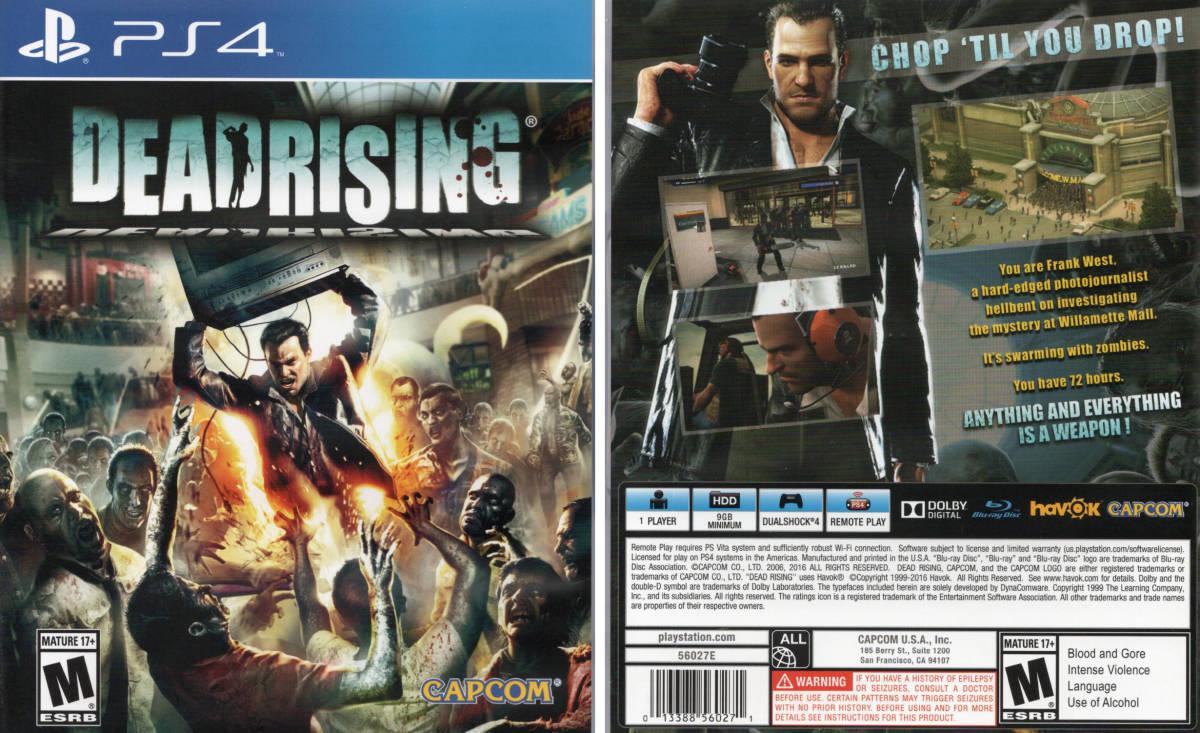 PS4『Dead Rising デッドライジング (輸入版:北米)』(新品同様・送料無料)