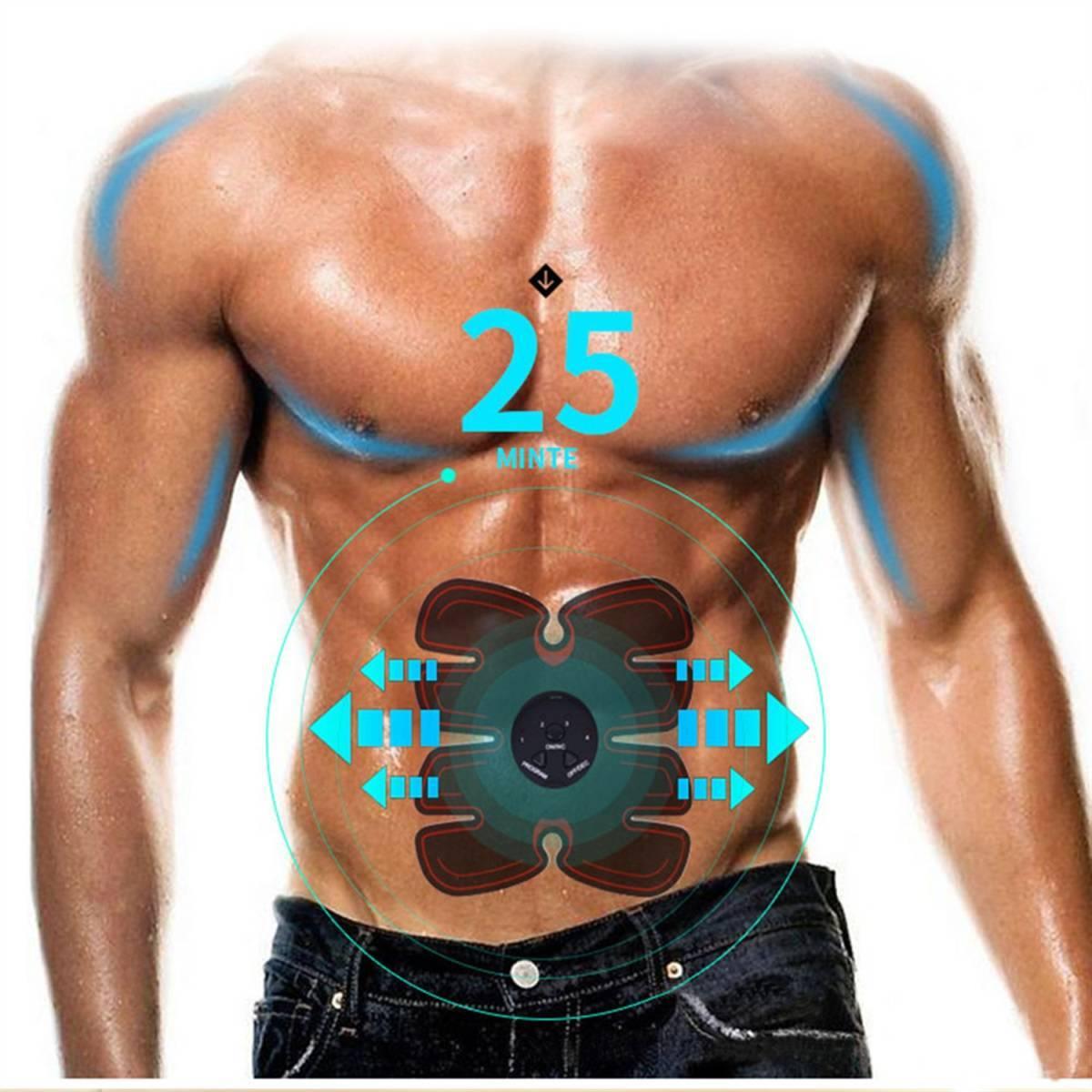 EMS 腹筋ベルト 腹筋マシーン 腹筋パッド 太もも 腕筋 筋トレ器具 ダイエット USB充電式 マッサージ エクササイズ 男女兼用_画像5
