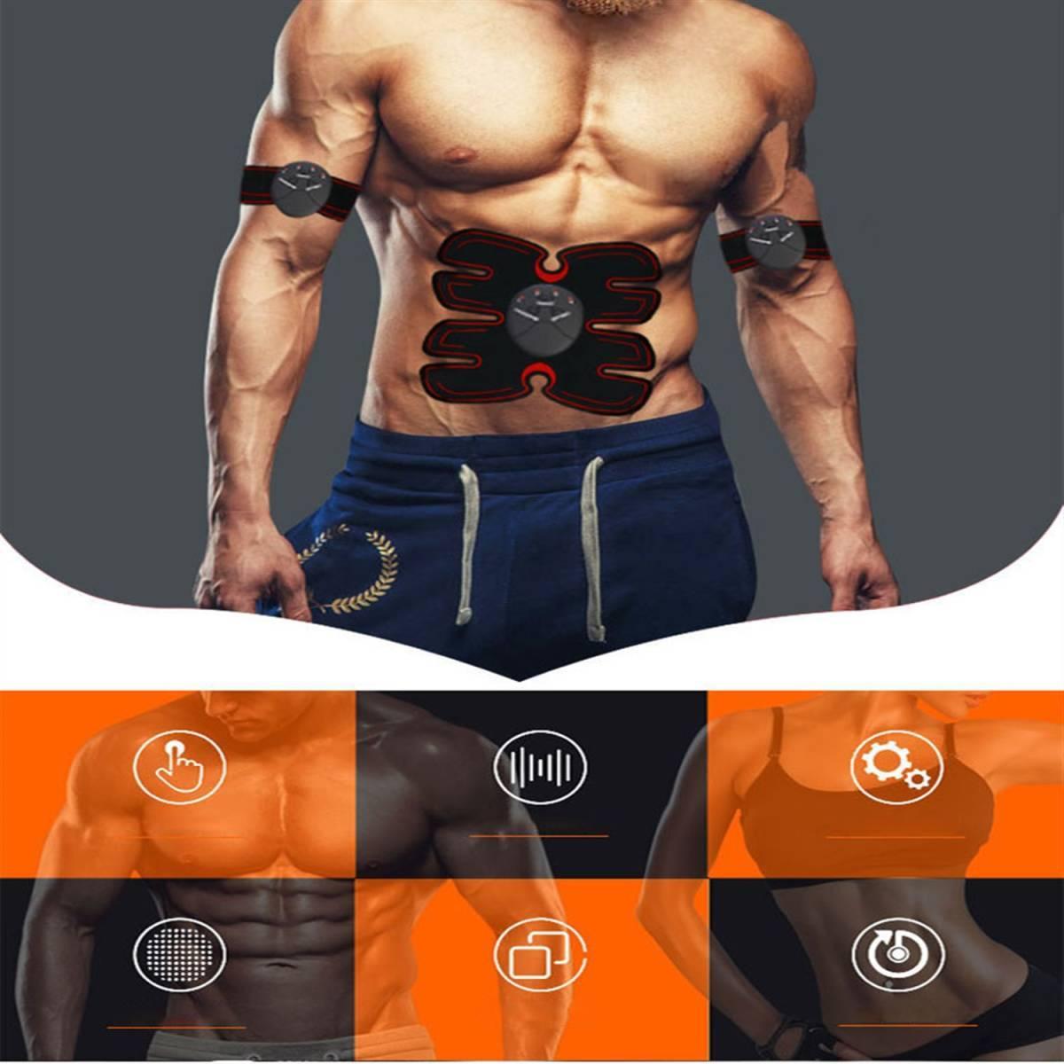 EMS 腹筋ベルト 腹筋マシーン 腹筋パッド 太もも 腕筋 筋トレ器具 ダイエット USB充電式 マッサージ エクササイズ 男女兼用_画像6