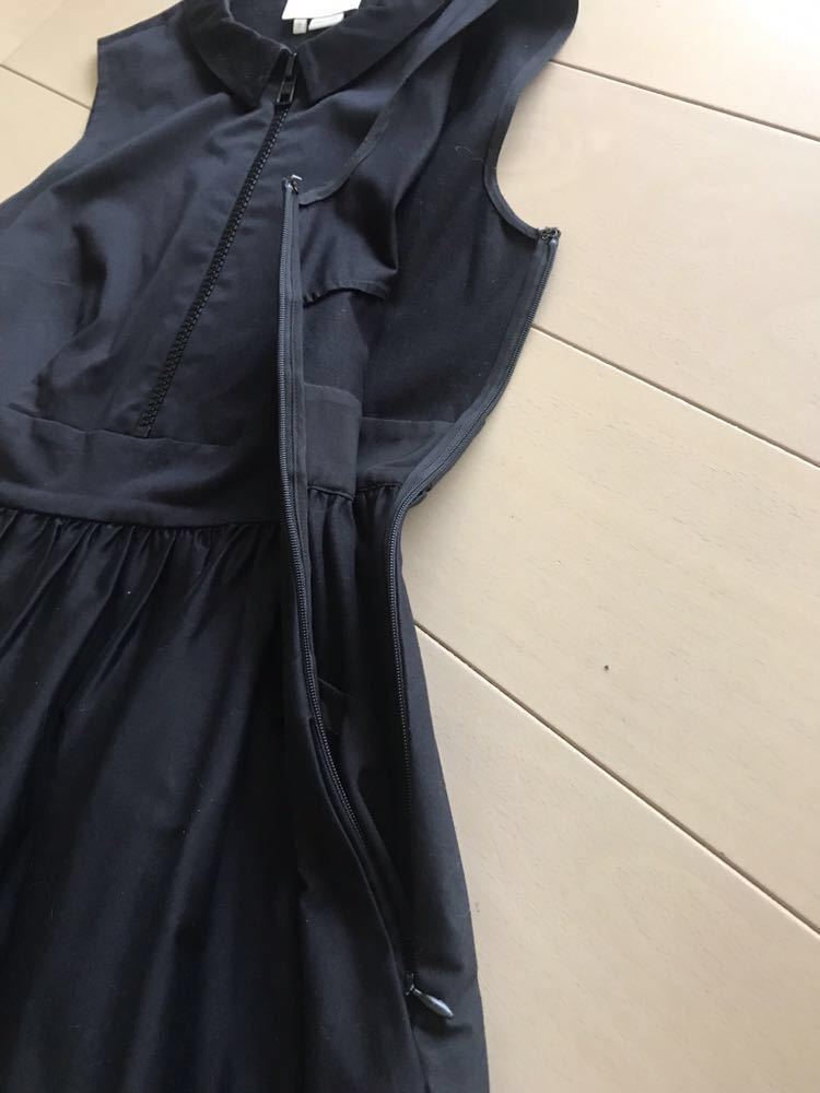 ケイトスペード kate spade 襟付き ノースリーブ ワンピース フレア 黒 2_画像5