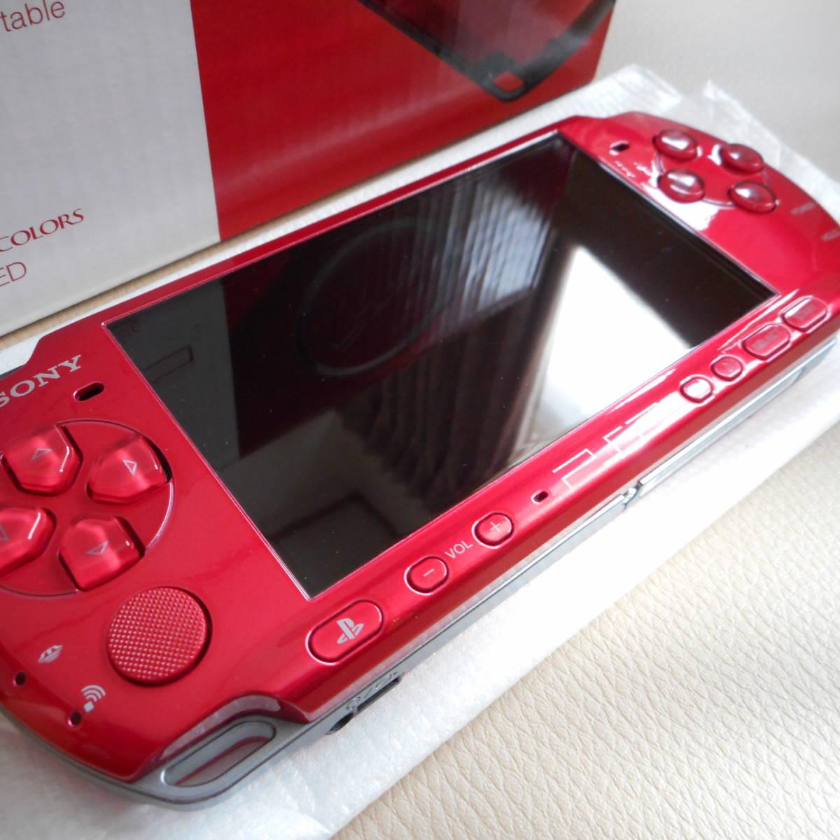 ☆★新品未使用★プレーステーションポータブル PSP-3000RRラディアンレッド_画像8