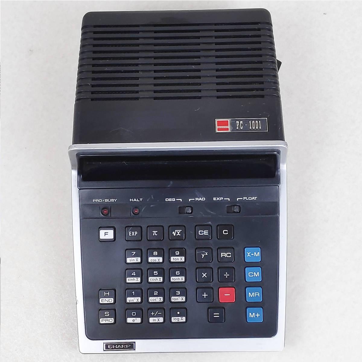 SHARP 電卓 PC-1001 ジャンク 06179_画像3