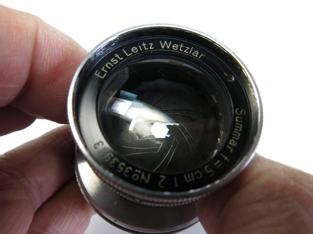 ライカ L Summar ズマール 50mm f2 3a 3b 3c 3fなど用 良品 (光学美品)_画像4