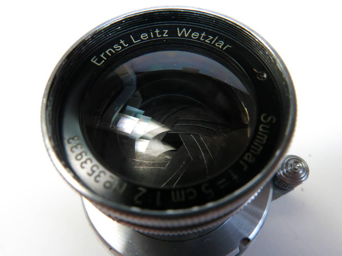 ライカ L Summar ズマール 50mm f2 3a 3b 3c 3fなど用 良品 (光学美品)_画像5