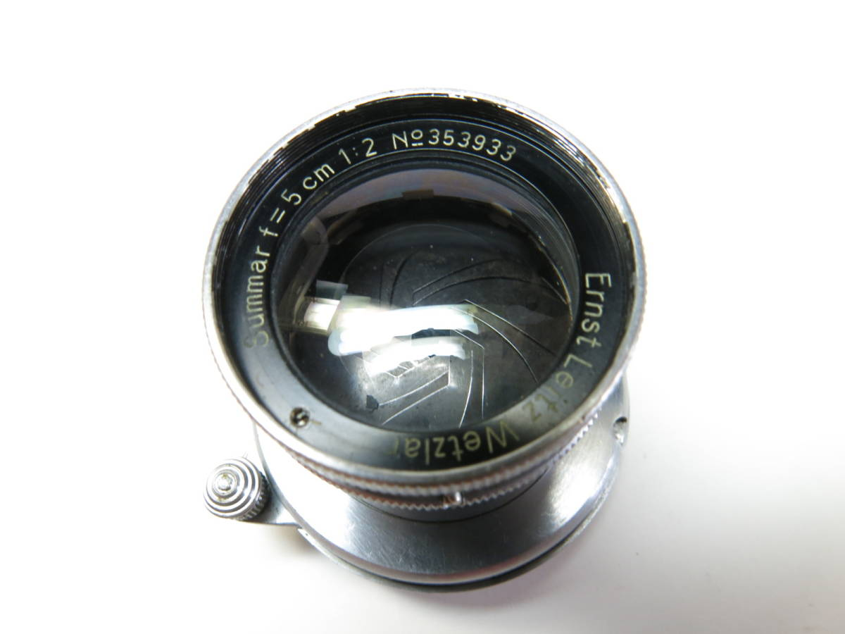 ライカ L Summar ズマール 50mm f2 3a 3b 3c 3fなど用 良品 (光学美品)_画像6